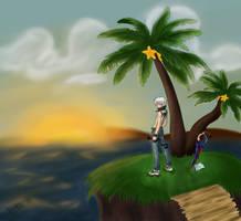 Riku - Destiny Island by Neonne