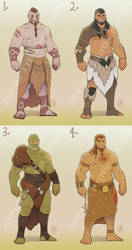 Orc adoptables by Zepht7