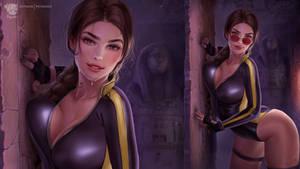 Wallpaper Lara Croft Wetsuit By Prywinko Ddtvet9 (