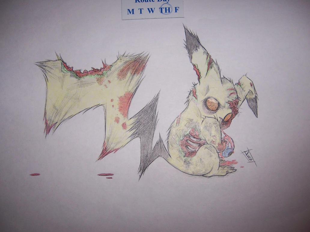 Zombie Pikachu by xhaloxonex on DeviantArt