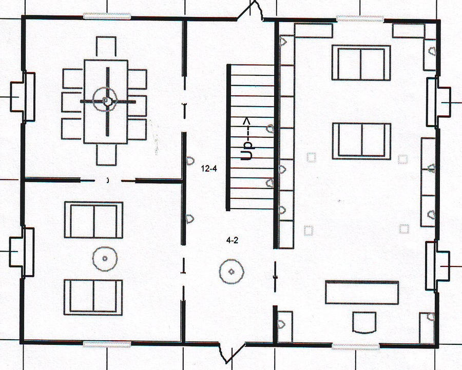 Grimmauld place ground level by raiderhater1013 on deviantart for 12 grimmauld place floor plan