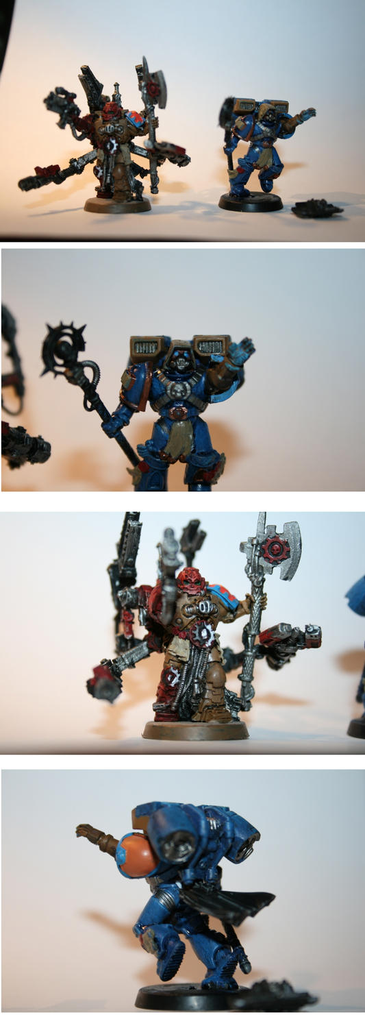 Jump Pack Librarian WIP and Master of the Forge by FezFindie44