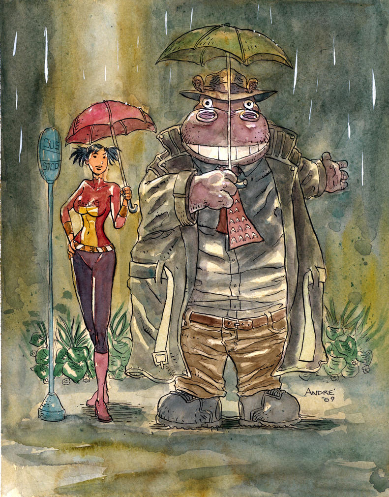 Hip and Miki Totoro style by astrobrain