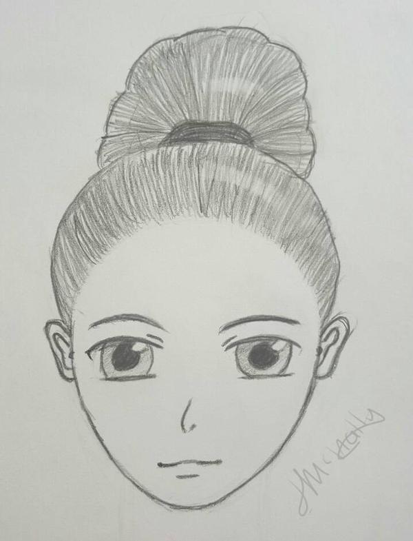 Manga girl.  by Hanika93