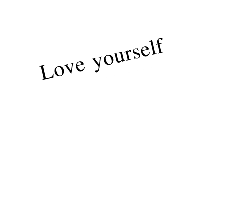 Love yourself text png by KawaiiOjousama on DeviantArt