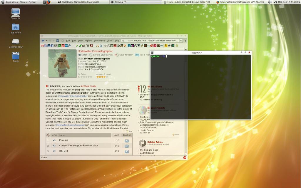 iMac + Gentoo + Compiz by daj