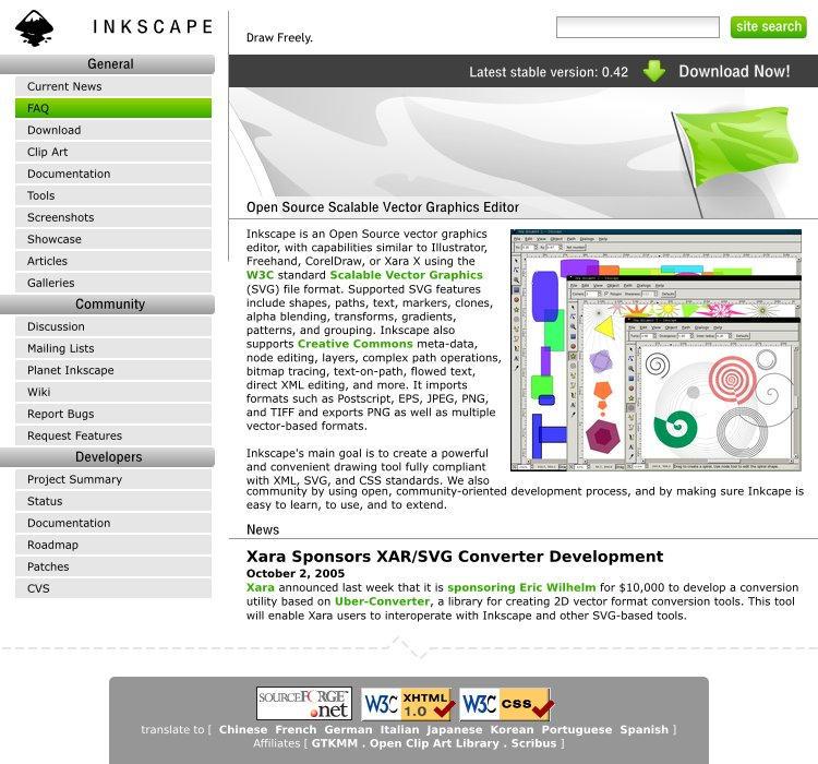 Inkscape Website Entry by daj