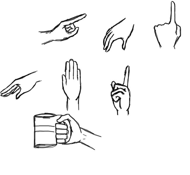 how to draw anime hands in pockets