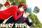 Angry birds: Red + Blue = 2 hot bishies
