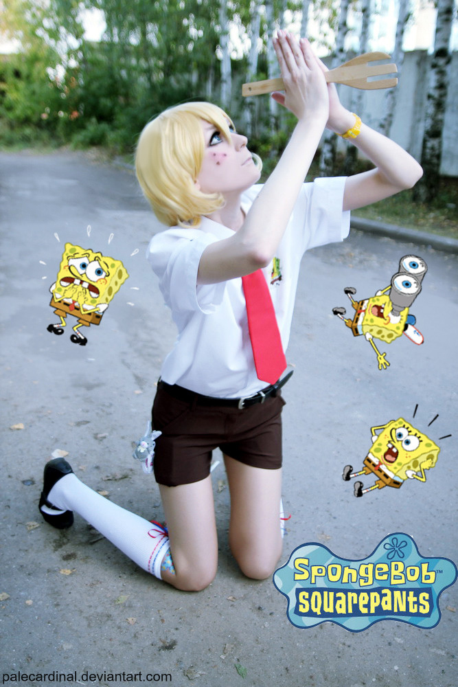 Sponge Bob cosplay: Oh, God by palecardinal