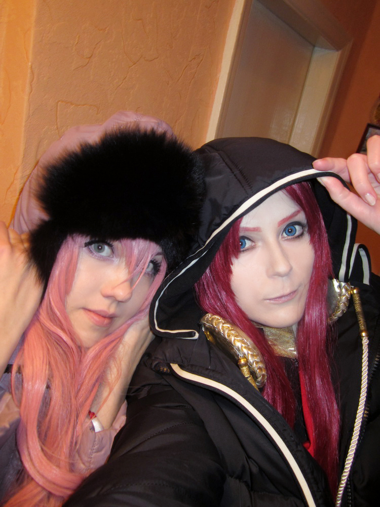Utena + Touga: Russian Winter XD by palecardinal