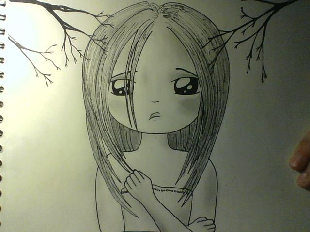 Scared Face Line Drawing : Scared girl by smiiliimoon on deviantart