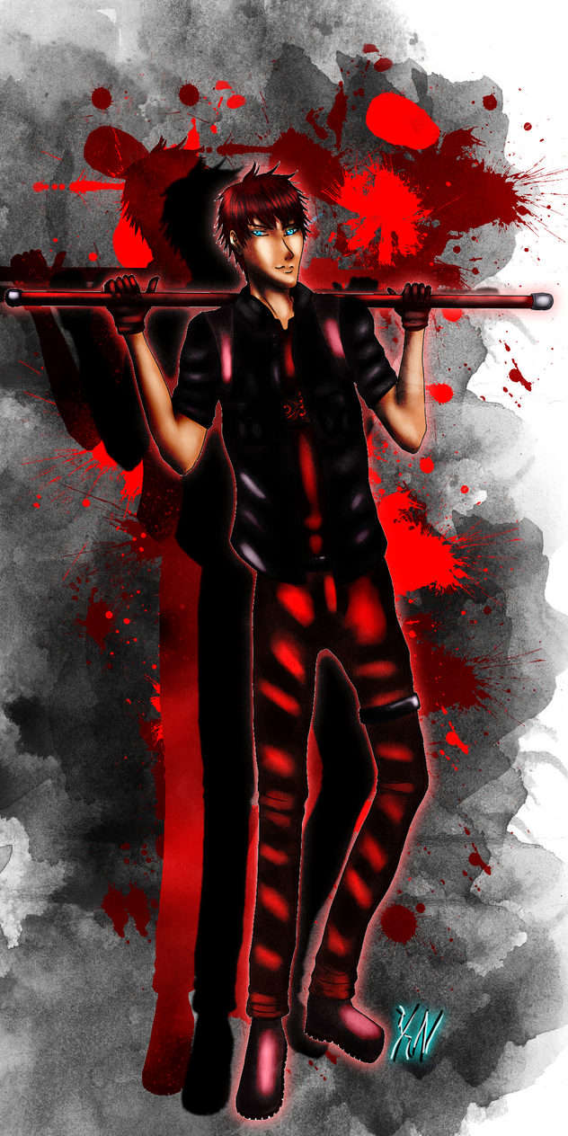 kureo95 Red Fullbody Comm by KumoriNinja08