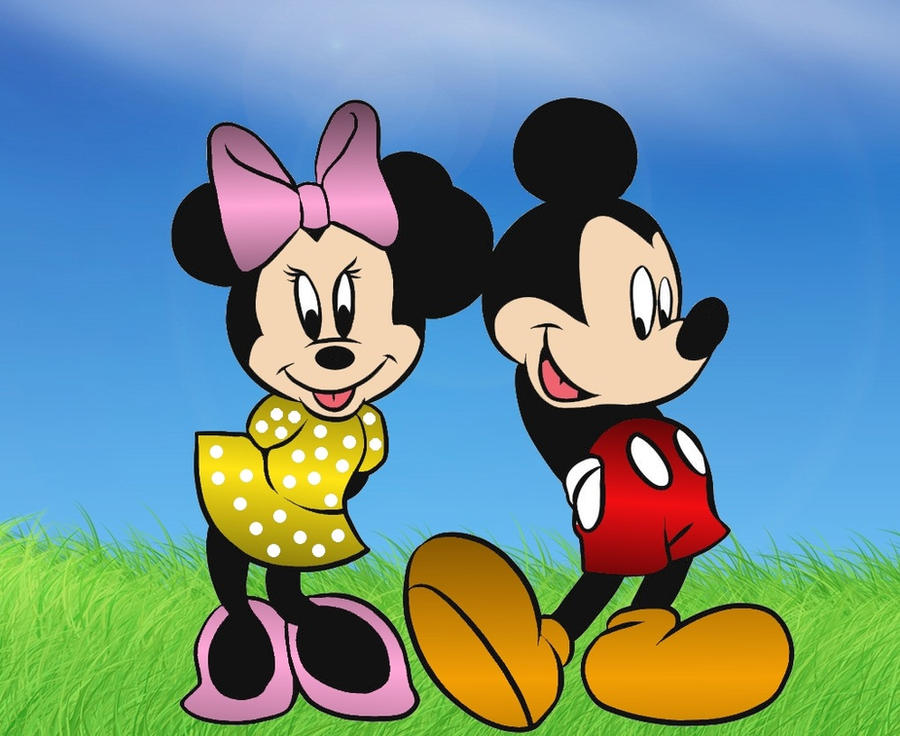 Mickey and Minnie Mouse by JanetAteHer