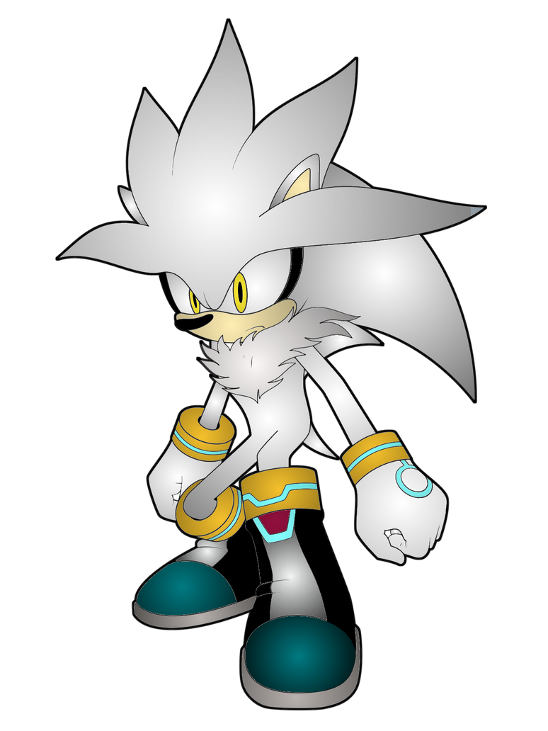 Silver the Hedgehog Render by JanetAteHer