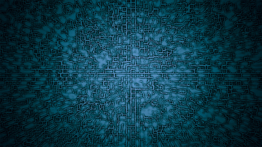 Abstract Blue Grid Background by JanetAteHer
