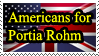Americans for Portia Rohm Stamp by JanetAteHer