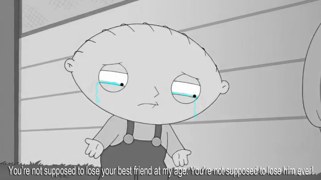 Stewie Griffin on Brian's Death by JanetAteHer