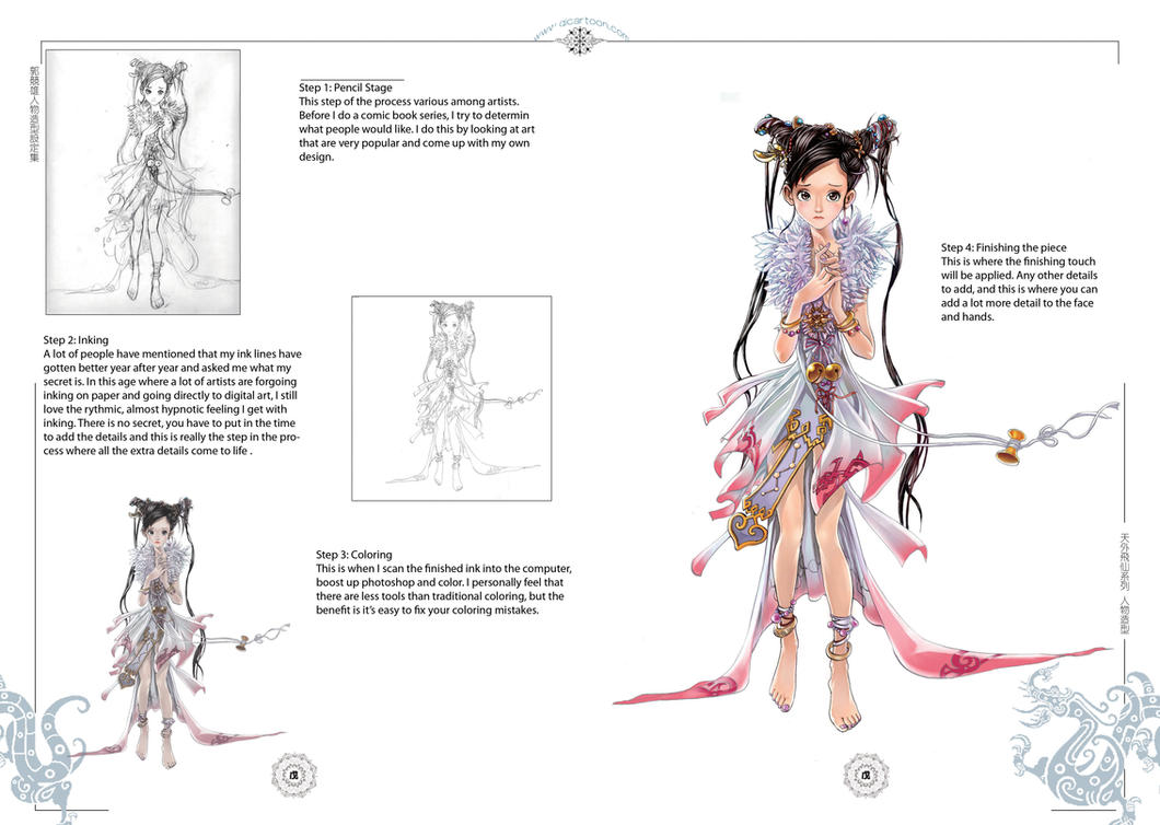 Character Design Process Drawing : Character drawing process by daxiong on deviantart