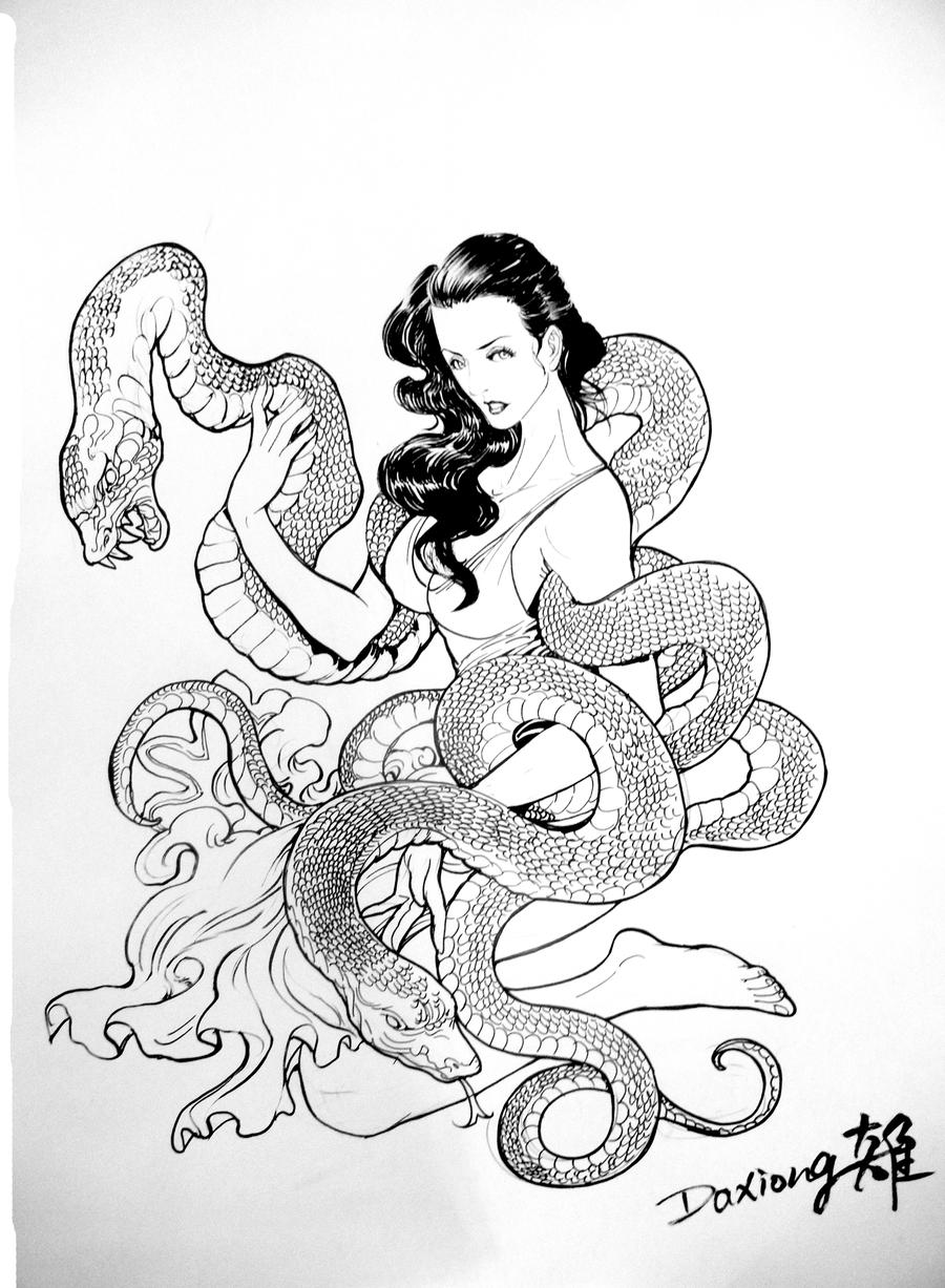 Commission - NYCC- Snake Lady by daxiong
