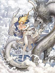 Emma Frost with Ice Dragon