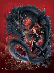Black Widow with Black Dragon