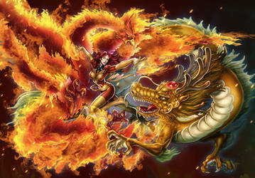 phoniex and dragon