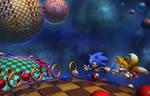 Blue Spheres 3D