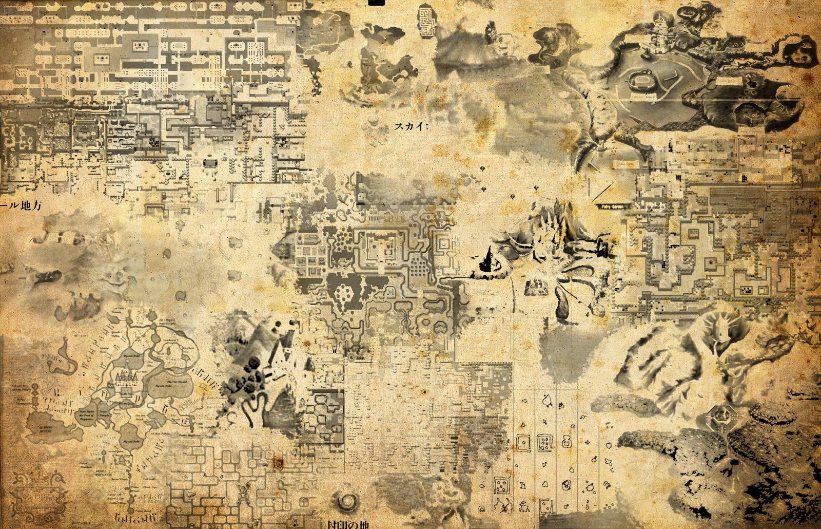 Maps of Zelda by magicwaffles123 on DeviantArt