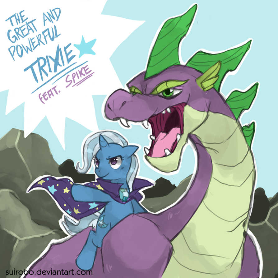 Dragon Rider Trixie by Elslowmo