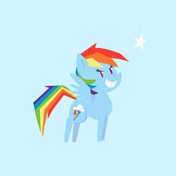 New Rainbow Dash by Elslowmo