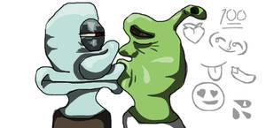 Day 5 - Kissing by Shrek4ever69