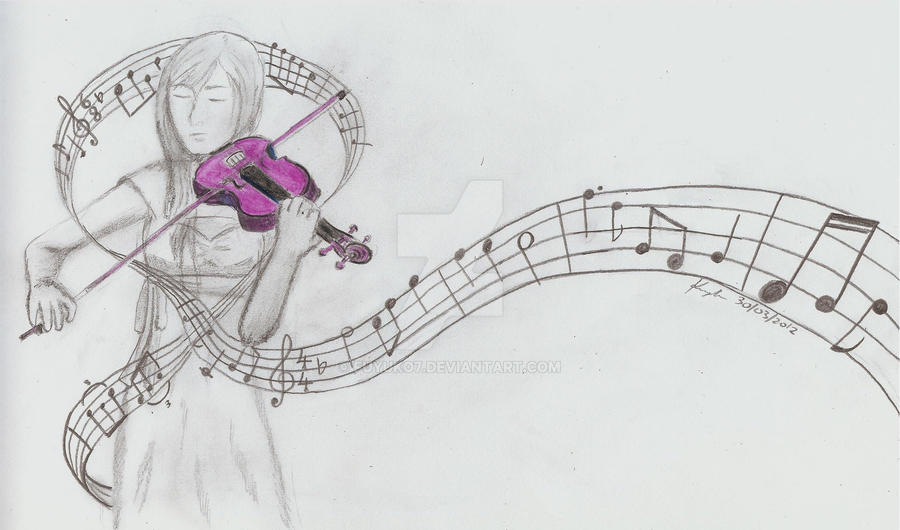 Purple Violin by Fuyuko7