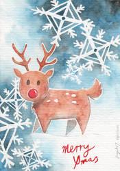 Xmas Card Reindeer