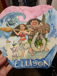 Moana painting for 3 year old student
