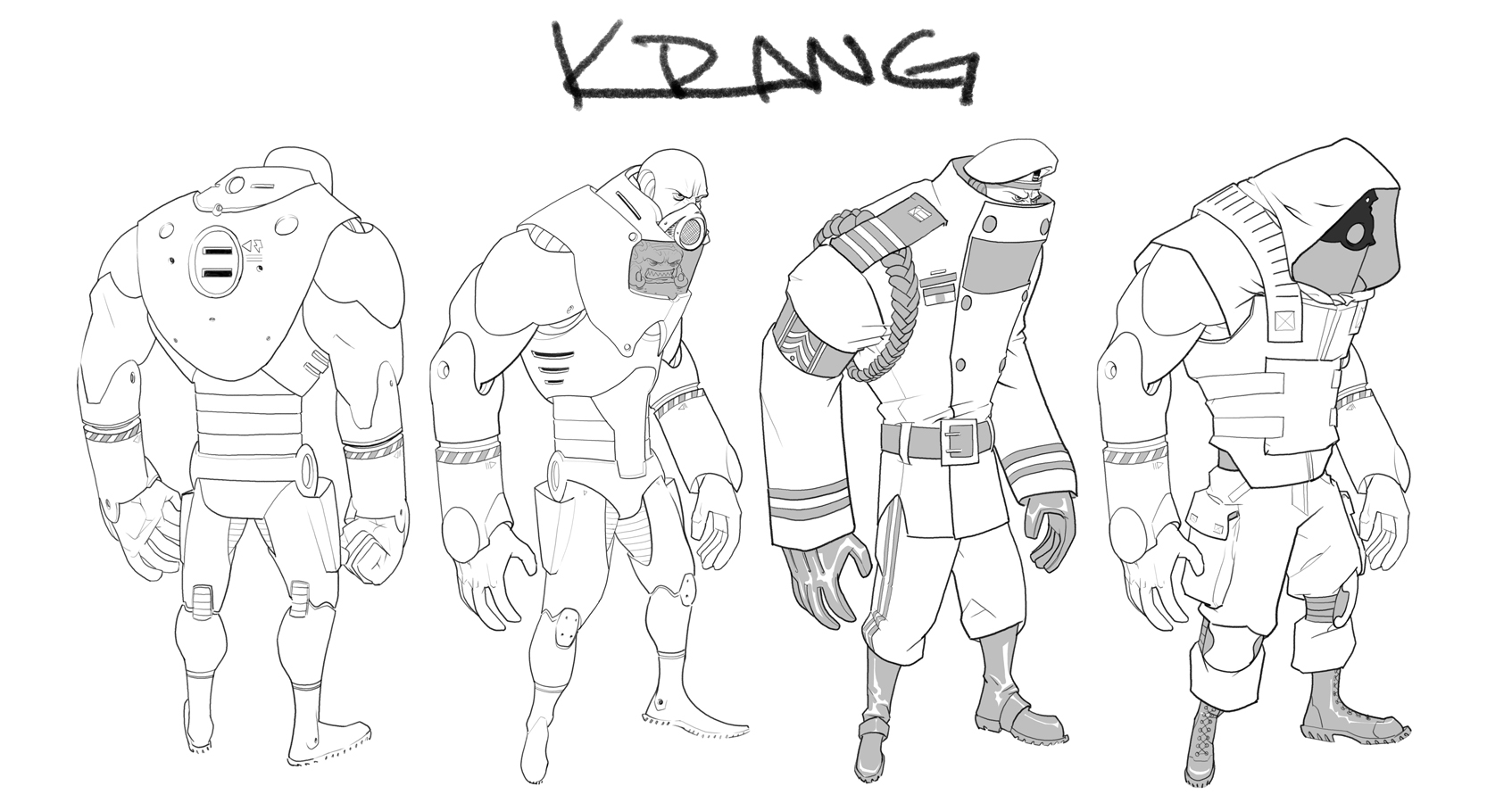 kraang coloring pages - photo#29