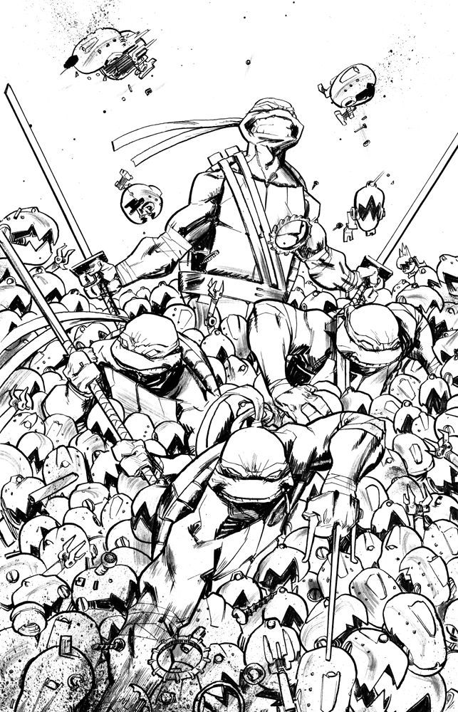 TMNT cover 8 by dan-duncan
