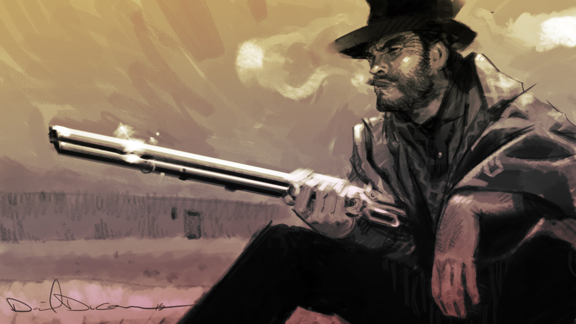 Fistful of Dollars by dan-duncan