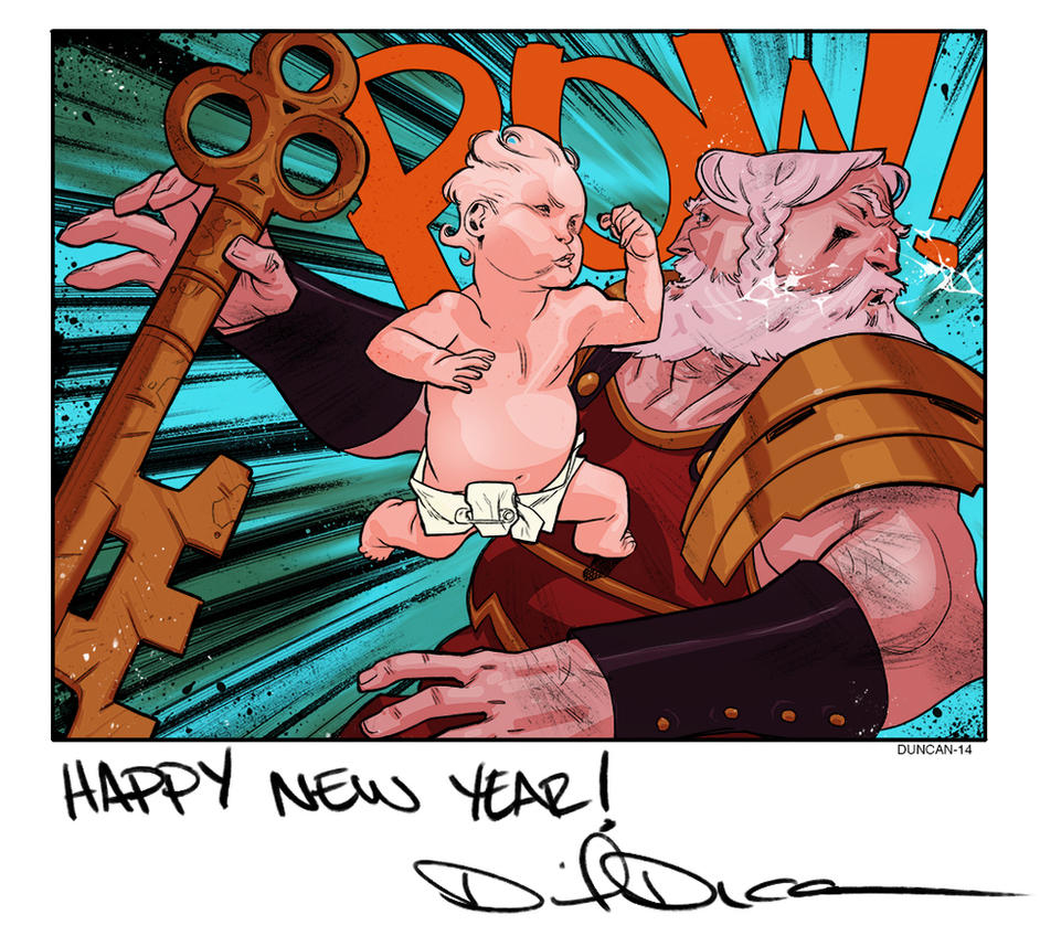 Janus vs Baby New Year by dan-duncan