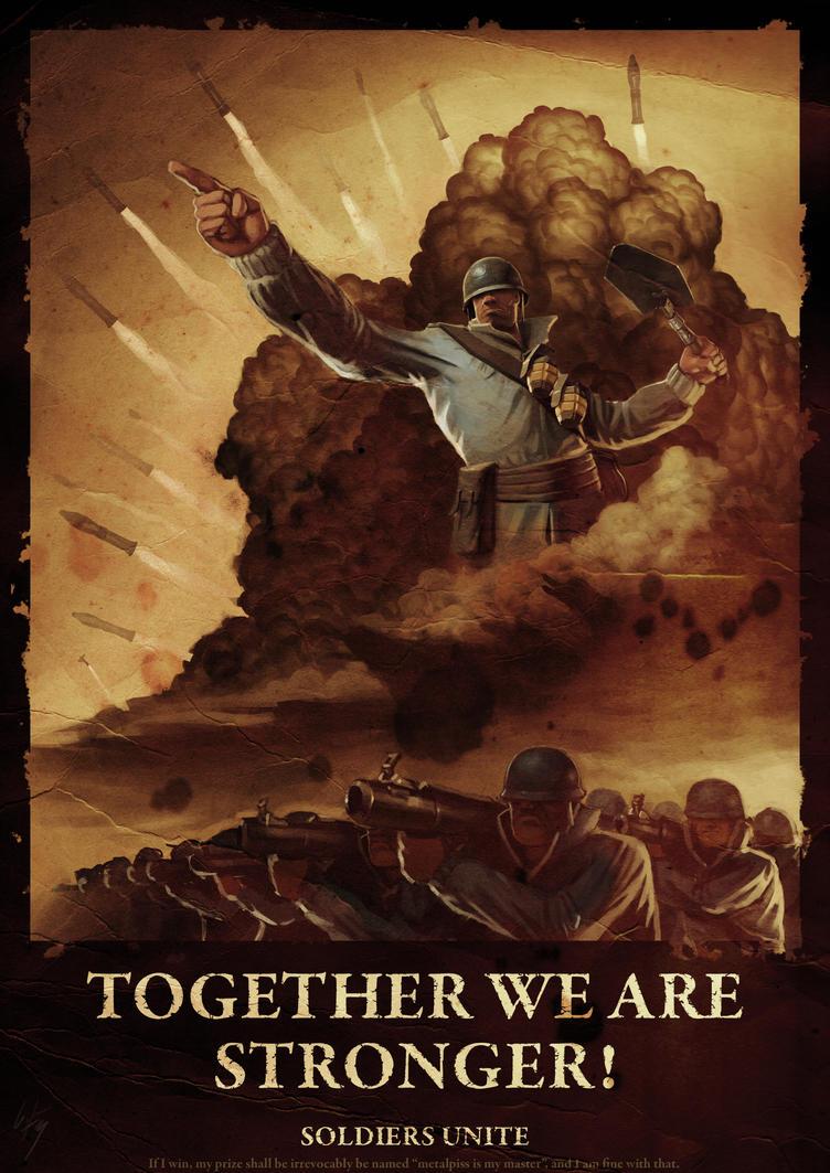 TF2 War Propaganda Poster by metalpiss