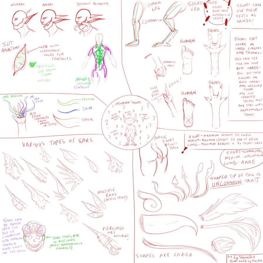 Secati sketchy reference stream bundle (PART I) by ShemeiArt on ...