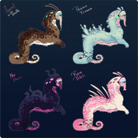 Mutated Jawlet Adopts: Valentines Day (3/4 OPEN!) by ShemeiArt