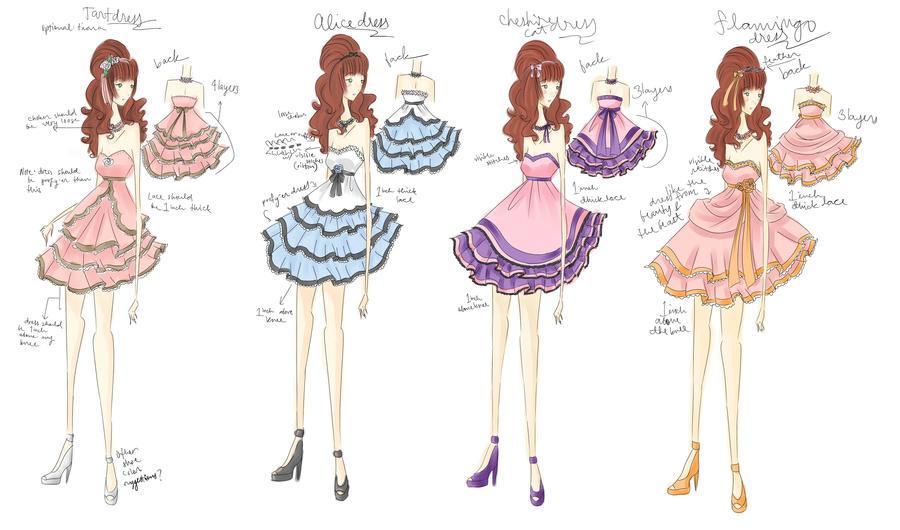 Prom dress DESIGNS by princessmikan on DeviantArt