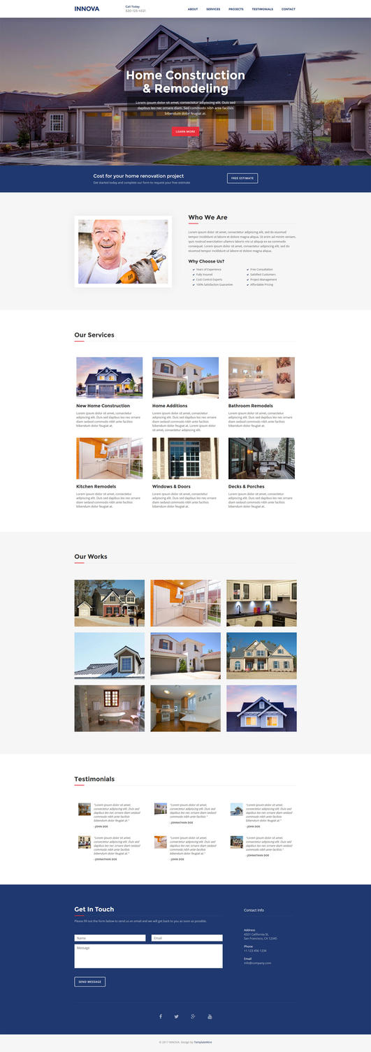 Innova - Free Construction Website Template by templatewire