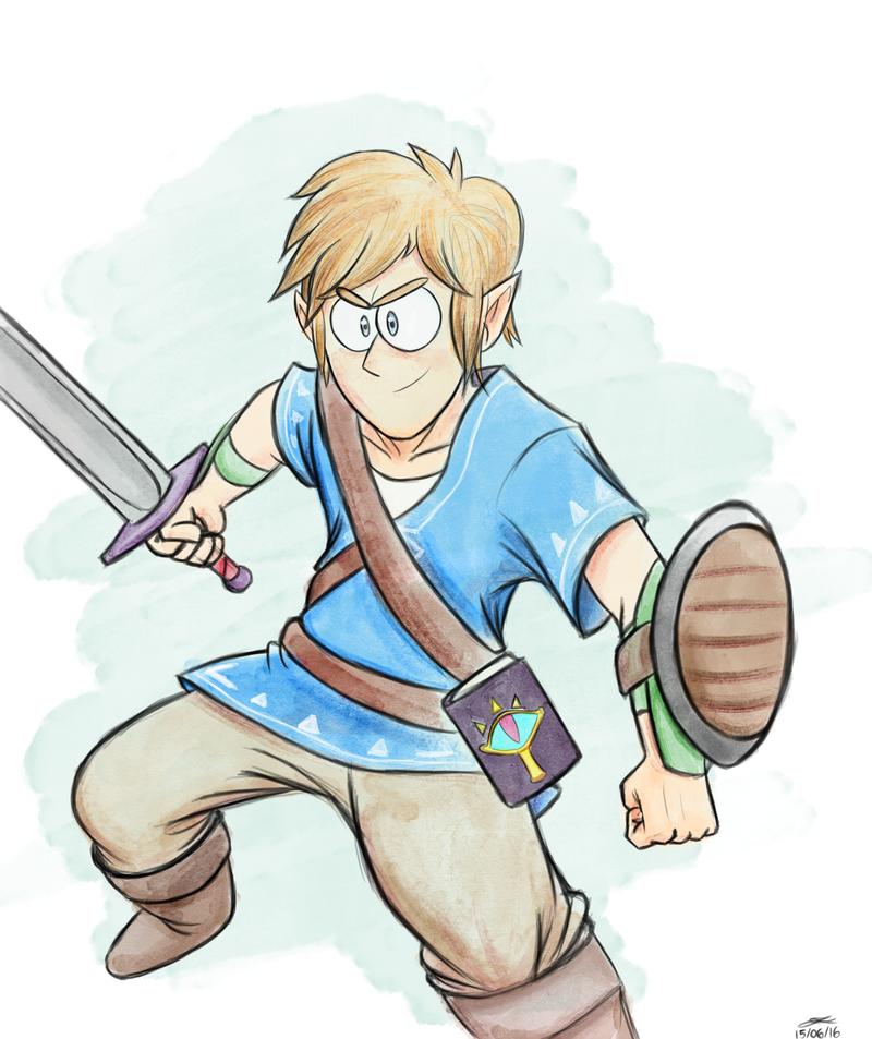 Link - Zelda Breath of the Wild by Felphs