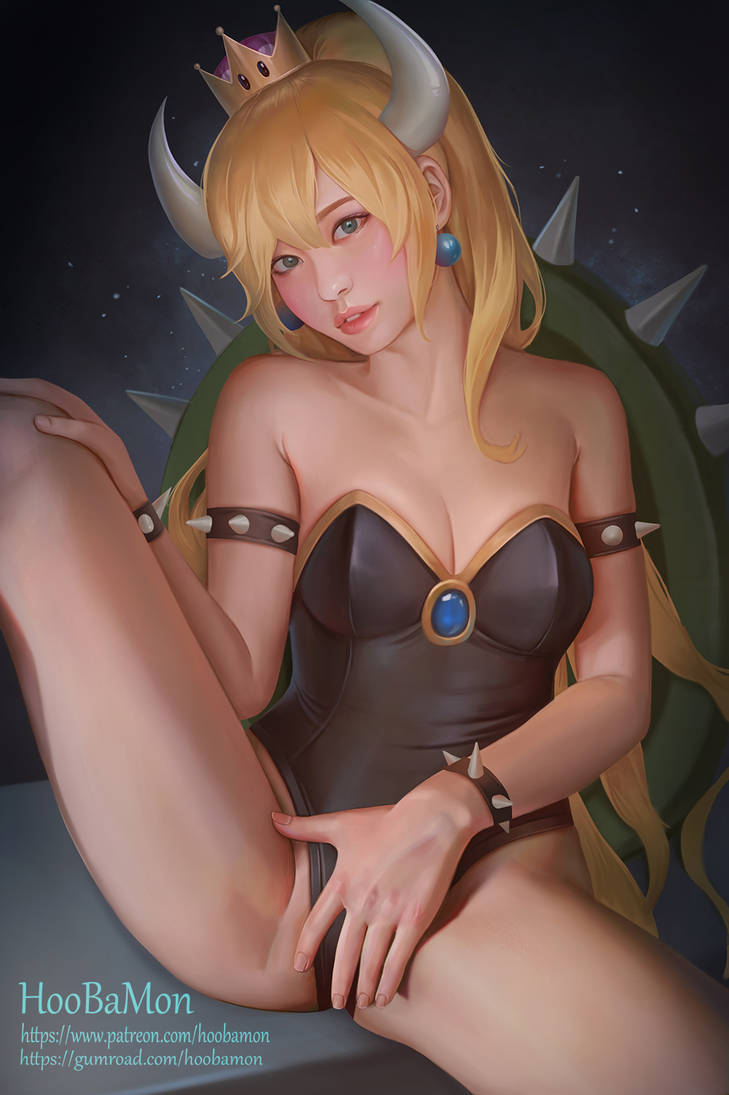 Bowsette by Hoobamon