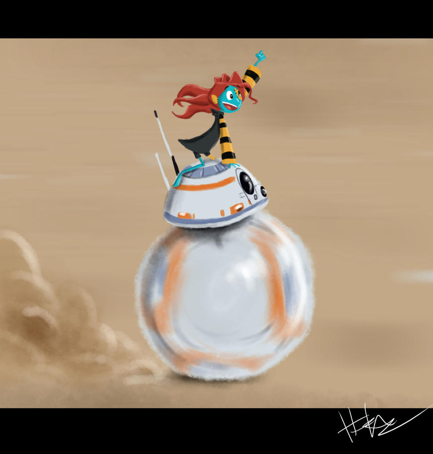 BB-8 and Patchwork by Hasaniwalker