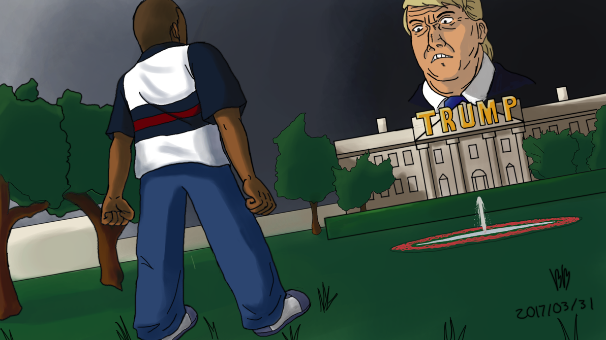 Cory Vs Trump Arc Fanart by BigBoxs