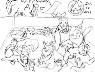 01 - 10 -Flareon Day (sketch) by JyoEspy