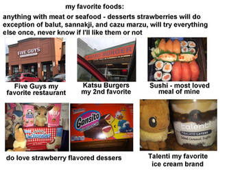 About Me - Foods